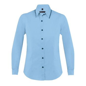 SOL'S Ladies Baxter Long Sleeve Contrast Fitted Shirt Thumbnail