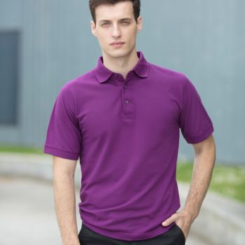 Henbury Heavy Poly/Cotton Piqué Polo Shirt Thumbnail