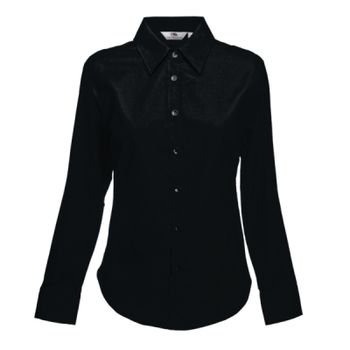 Fruit of the Loom Lady Fit Long Sleeve Oxford Shirt Thumbnail
