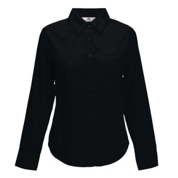 Fruit of the Loom Lady Fit Long Sleeve Poplin Shirt Thumbnail