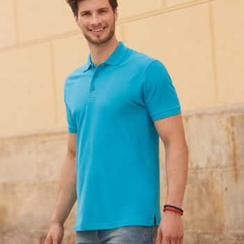 Fruit of the Loom Premium Cotton Piqué Polo Shirt Thumbnail