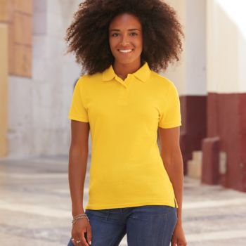 Fruit of the Loom Lady Fit Piqué Polo Shirt Thumbnail