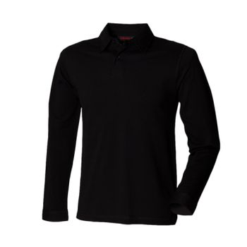SF Men Long Sleeve Stretch Polo Shirt Thumbnail