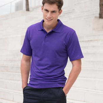 Henbury Coolplus® Wicking Piqué Polo Shirt Thumbnail