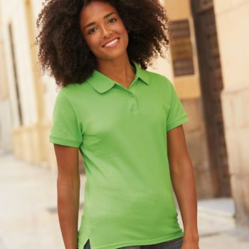 Fruit of the Loom Lady-Fit Premium Cotton Piqué Polo Shirt Thumbnail