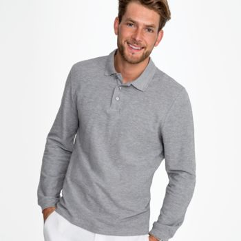 SOL'S Winter II Long Sleeve Cotton Piqué Polo Shirt Thumbnail