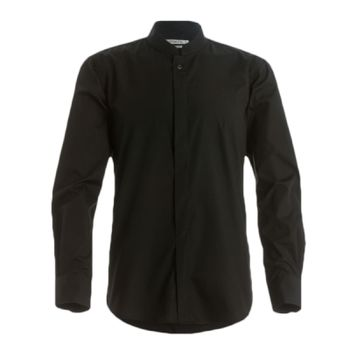 Kustom Kit Long Sleeve Tailored Mandarin Collar Shirt Thumbnail