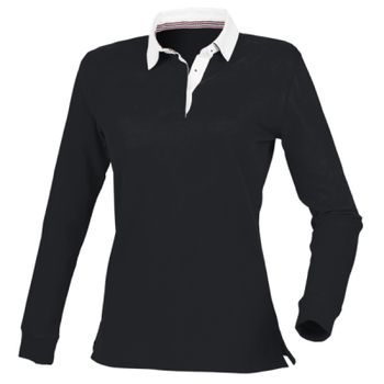 Front Row Ladies Premium Superfit Rugby Shirt Thumbnail