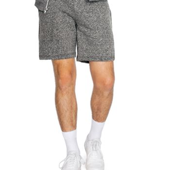 American Apparel Unisex Salt and Pepper Gym Shorts Thumbnail