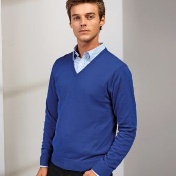 Premier Knitted Cotton Acrylic V Neck Sweater Thumbnail