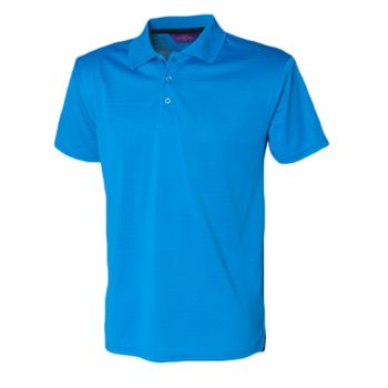 Henbury Cooltouch Textured Stripe Polo Thumbnail