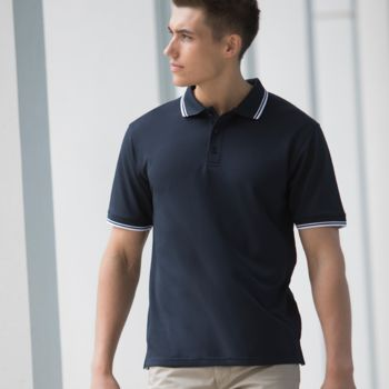 Henbury Coolplus® Tipped Polo Shirt Thumbnail